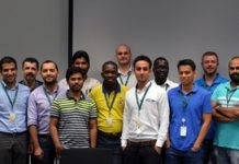 Group picture of the Service Partners across YahClick's markets, along with the Yahsat and iDirect team training them on the product