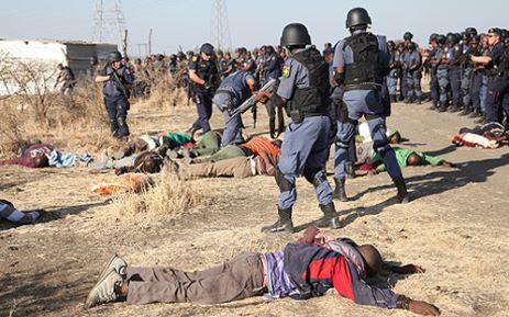 police shooting Marikana Newsghana