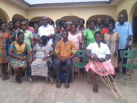 Group picture of participants at the training