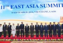 Chinese Premier Li Keqiang (9th R) attends the 11th East Asia Summit in Vientiane, Laos, Sept. 8, 2016. (Xinhua/Wang Ye)