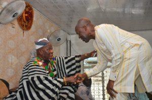 Vice President Amissah-Arthur calling on Buipewura, Abudulai Jinapor II at his Palace
