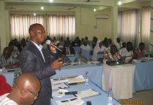 Mr Caesar Abagali, Northern Regional Chairman of the GJA addressing participants at the programme in Tamale.