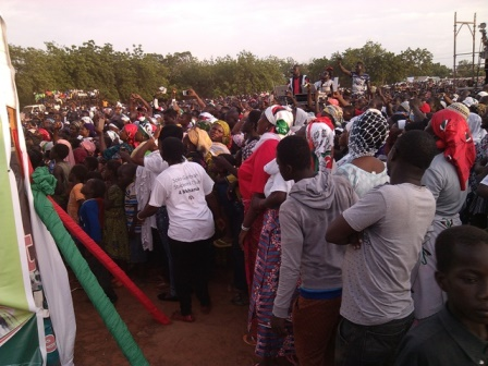 A cross section of NDC supporters who thronged the Vittin SHS Park to launch the campaign