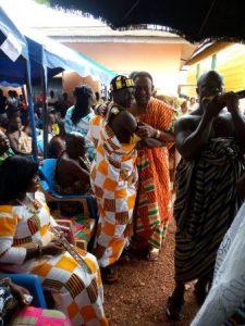 Nana Nkwantabisa at the ceremony