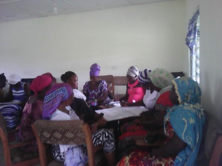 Some of the women in a group session