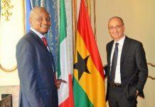 Togbe Afede (left) and Mr. De Fazio