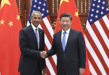 Chinese President Xi Jinping (R) meets with U.S. President Barack Obama, who is here to attend the G20 summit, in Hangzhou, capital city of east China's Zhejiang Province, Sept. 3, 2016. (Xinhua/Pang Xinglei)