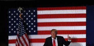 Republican presidential candidate Donald Trump speaks at a campaign rally in Cedar Rapids, Iowa, the United States, Feb. 1, 2016. [Photo/Xinhua]