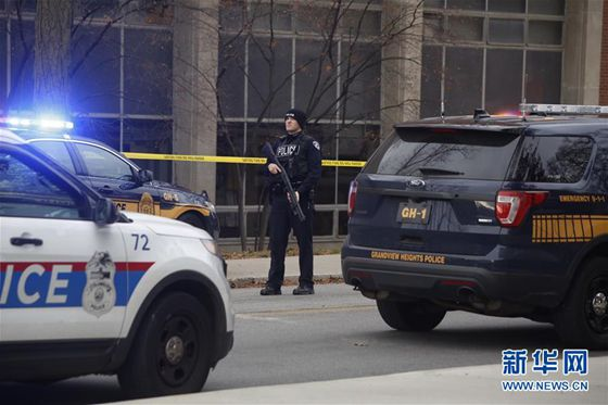 At least nine people injured in a shooting incident at the Ohio State University (OSU), and one suspect of the shooting killed. [Photo/Xinhua]