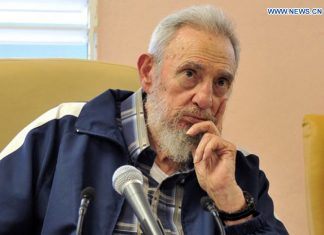 File photo taken on April 11, 2013 shows Fidel Castro attending the inauguration of a school in Havana. Cuban revolutionary leader Fidel Castro has died at 90, local media said on Nov. 26, 2016. (Xinhua/Cubadebate)