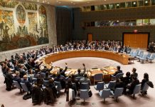 Photo taken on March 2, 2016 shows the United Nations Security Council approves new resolution on the Democratic People's Republic of Korea (DPRK), at the UN headquarters in New York, the United States. (Xinhua/Li Muzi) (zw)