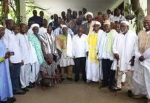 Nana Addo Dankwa Akufo-Addo exchanging greetings with Dagbon Chiefs