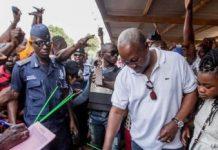 President Mahama votes