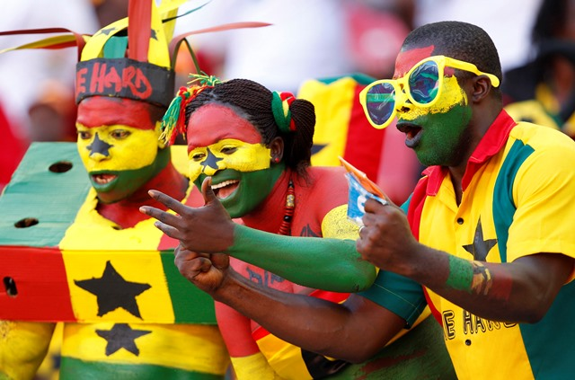 Ghana fans cheer their team during their African Nations Cup Group B soccer match against Mali at the Nelson Mandela Bay Stadium in Port Elizabeth January 24, 2013. REUTERS/Siphiwe Sibeko (SOUTH AFRICA - Tags: SPORT SOCCER) Source: Statista.com