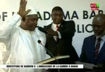 Adama Barrow sworn in