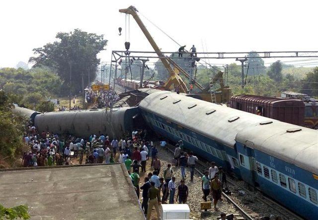 INDIA-VIZIANAGARAM-TRAIN-DERAIL ACCIDENT