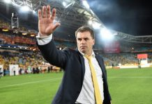 A wave from Ange Postecoglou, but it's unlikely to be goodbye before Australia concludes its campaign for the 2018 World Cup. Photo: Brendan Esposito