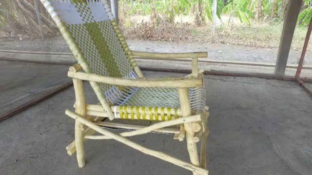 A chair using insecticide-laden fabric has shown protection for up to six months.