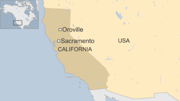 Oroville map