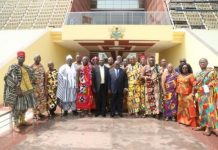 President Akufo-Addo with the Standing Committee of the House of Chiefs