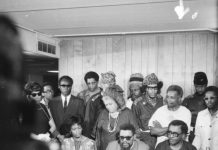 Queen Mother Moore with Robert and Mabel Williams and the RNA, Dec. 1979 in Detroit