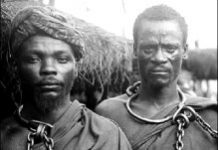 Tanzania Maji Maji warriors as political prisoners of German colonialism