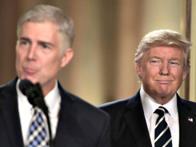 Judge Neil Gorsuch speaks, after US President Donald Trump nominated him for the Supreme Court
