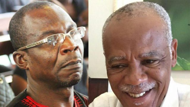 Mr Lloyd Evans (R) is challenging Mr Affail Monney (L),who is the incumbent GJA President and is going for another term.