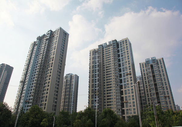A housing project in Nanjing, capital of East China's Jiangsu province. [Photo/Asianewsphoto]
