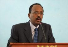 Former prime minister Mohamed Abdullahi Farmajo, seen here in 2010, has been declared Somalia's new president. (Farah Abdi Warsameh / The Associated Press)