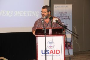 USAID/Ghana Mission Director, Andrew Karas delivers remarks at the Feed the Future partner's meeting, hosted by USAID. Photo credit: Priscilla Addison, USAID/Ghana.