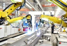 """Digital technology has been widely applied by Chinese factories. Picture is an intelligent workshop of SANY Heavy Industry, known as the """"intelligent factory"""" of China in Changsha, Hunan province. (Photo from the official website of SANY Heavy Industry.)"""