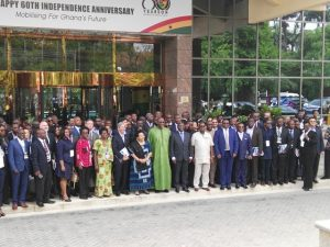 Dr. Bawumia with the Participants