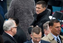 Michael T. Flynn at President Trump's inauguration in January. CreditDoug Mills/The New York Times