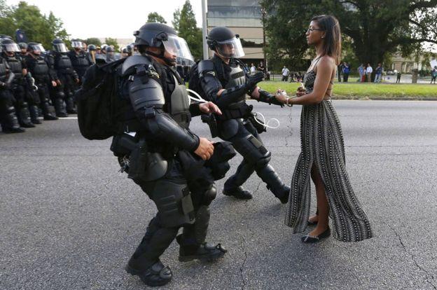Ieshia Evans in Baton Rouge