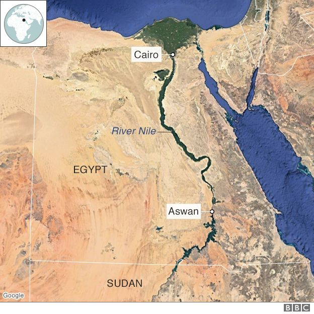 Map of the Nile
