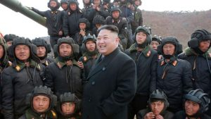 DPRK leader and soldiers