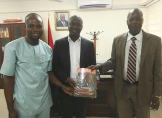 (L-R) Mr. Henry Teinor, the Editor of Energy Magazine; Dr. Mohammed Amin Adam, the Deputy Minister of Energy and Prof. Thomas Man Akabzaa, the Chief Director of the Ministry.