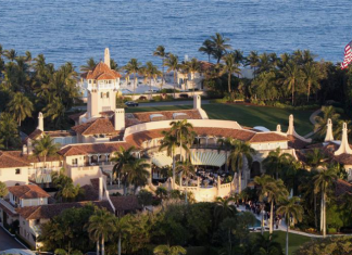Mar-a-Lago, an estate and National Historic Landmark in Palm Beach, Florida. Source: Xinhua News Agency