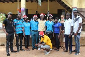 NLF team members in a group picture after donating to an orphanage home in Dodowa