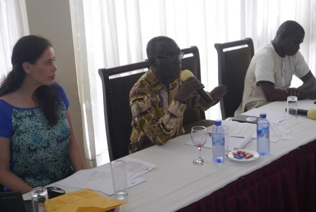 Mr. Ben Ampomah, the Executive Secretary of WRC speaking during NLLAP 61 in Accra.