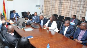 Vice President Of Ghana H.E Dr. Mahamudu Bawumia Interacting With. Executives of MTN .