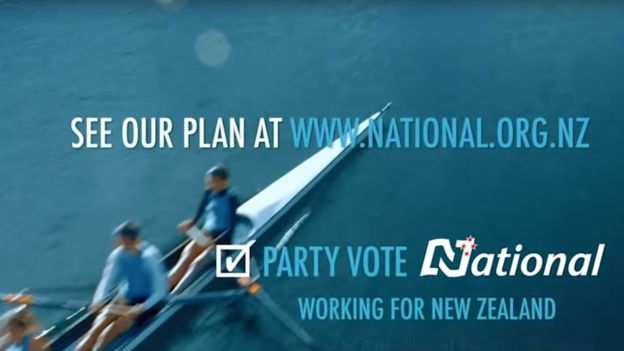 Still image from 2014 National Party advert