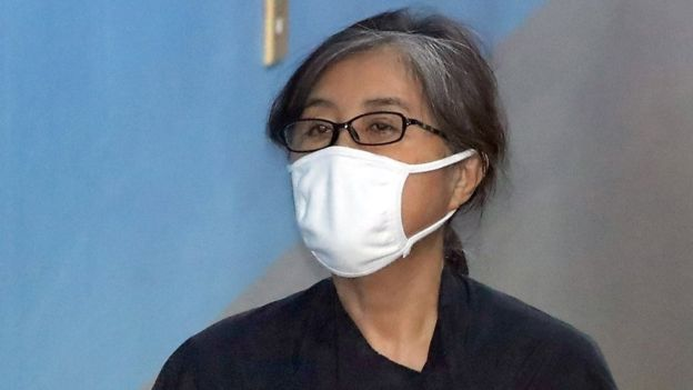 Choi Soon-sil on trial in Seoul (18 April 2017)