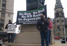 Abayomi Azikiwe May Day 2017 at Grand Circus Park in downtown Detroit