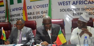 Minister of Energy, Hon. Boakye Agyarko (Middle) at the just ended COM Meeting in Cotonou Benin