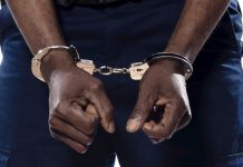 arrested handcuffed