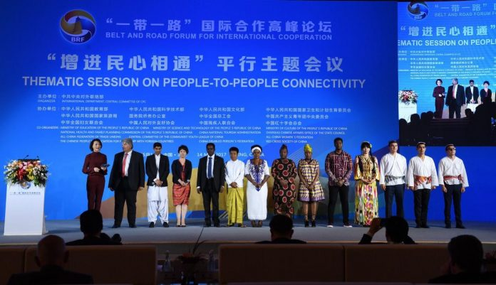 On May 14, the BRF is holding in Beijing six parallel thematic meetings, one of them eyes on the people-to-people connectivity. Photo by Xinhua