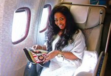 convicted drug baroness Nayele Ametefe in one of her lavish traveling spree