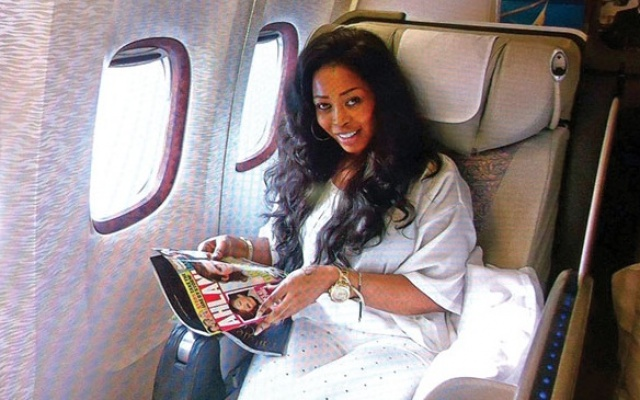 convicted drug baroness Nayele Ametefe in one of her lavish traveling spree
